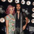 Katy Perry et son ex mari Russell Brand aux MTV Video Music Awards à Los Angeles le 28 août 2011.
