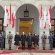 Le prince Albert de Monaco et la princesse Charlene à Varsovie le 17 octobre 2012, au premier jour de leur visite officielle de trois jours en Pologne.
