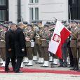 Le prince Albert II de Monaco et la princesse Charlene à Varsovie le 17 octobre 2012, au premier jour de leur visite officielle de trois jours en Pologne.