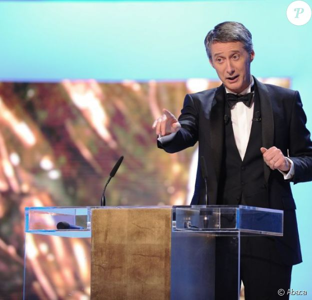 Antoine De Caunes durant la 37e cérémonie des César à Paris, le 24 février 2012.