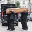 Obsèques émouvantes de Frank Alamo en l'église de Saint-Germain-des-Prés à Paris, le 18 octobre 2012.