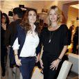 Mademoiselle Agnès et Sarah Lavoine à la présentation de la collection  Prismick  de Roger Vivier, à Paris le 18 octobre 2012.