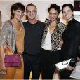 Inès de la Fresange, Bruno Frisoni, Farida Khelfa et sa fille Hanna Ben Abdesslem à la présentation de la collection  Prismick  de Roger Vivier, à Paris le 18 octobre 2012.