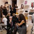 Photo d'ambiance de la présentation de la collection  Prismick  de Roger Vivier, à Paris le 18 octobre 2012.