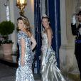La princesse Märtha Louise de Norvège et la princesse Aimée d'Orange-Nassau Van Vollenhoven - Arrivée des invités au dîner de gala organisé au Palais Grand-Ducal, à l'occasion du mariage du prince Guillaume de Luxembourg et la comtesse Stéphanie de Lannoy à Luxembourg, le 19 octobre 2012.