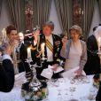 La princesse Lalla Salma du Maroc, le prince Willem-Alexander des Pays-Bas, la princesse Margaretha de Liechtenstein à l'occasion du mariage du prince Guillaume de Luxembourg et la comtesse Stéphanie de Lannoy à Luxembourg, le 19 octobre 2012.
