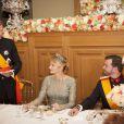 Le grand duc Henri de Luxembourg et la comtesse Stéphanie de Lannoy, et le prince Guillaume de Luxembourg à l'occasion du mariage du prince Guillaume de Luxembourg et la comtesse Stéphanie de Lannoy à Luxembourg, le 19 octobre 2012.