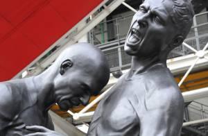 Zinédine Zidane : Son coup de boule en bronze suscite la polémique