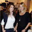 Mademoiselle Agnès et Sarah Lavoine à la présentation de la nouvelle collection de chaussures Roger Vivier, intitulée  Prismick , le 18 octobre 2012 à Paris.