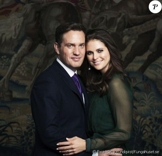 Princesse Madeleine et Christopher O'Neill : portrait officiel pour leurs fiançailles, en octobre 2012