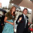 La princesse Madeleine et Christopher O'Neill arrivant au dîner Amadeus lors du festival de Salzbourg le août 2011.