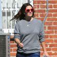 Drew Barrymore décontractée, son mari Will Kopelman et leur fille Olive sont allés déjeuner dans un restaurant à Los Angeles, le 25 octobre 2012.