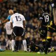 Fabrice Muamba victime d'un arrêt cardiaque lors du match entre Tottenham Hotspur et Bolton Wanderers à Londres le 17 mars 2012