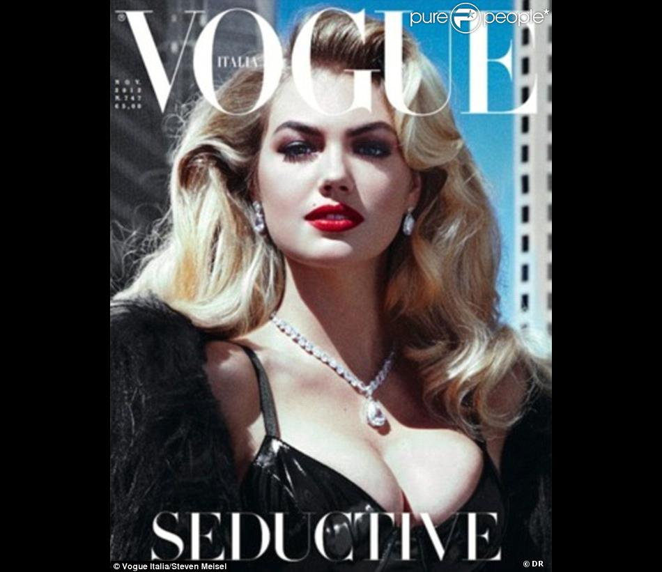 Kate Upton en couverture du magazine Vogue Italie du mois de novembre 2012