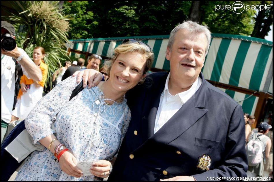 Guy Carlier et Joséphine Dard à Roland-Garros le 3 juin 2009.
