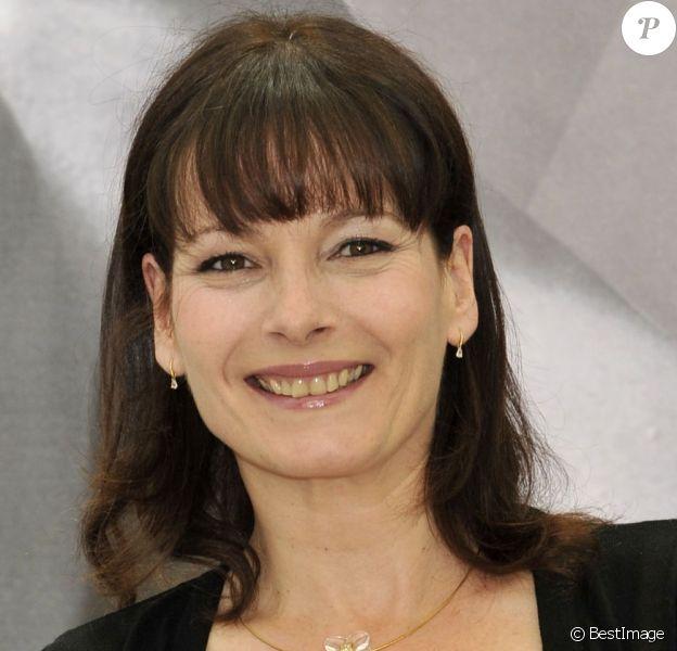 Cécilia Hornus, Blanche Marci dans la série Plus belle la vie au Festival de la télévision de Monte-Carlo le 13 juin 2012.