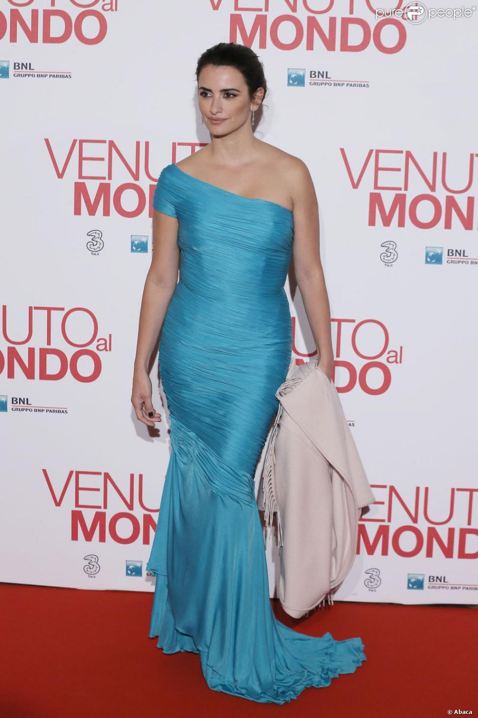 Penélope Cruz lors de l'avant-première du film Venir au monde, à Rome le 5 novembre 2012