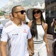 Lewis Hamilton et Nicole Scherzinger au Grand Prix de Monaco le 27 mai 2012