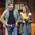 Xabi Alonso et son épouse Nagore dans les rues de Madrid le 5 Novembre 2012