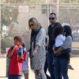 Heidi Klum avec ses enfants et Martin Kirsten le 3 novembre 2012 à Los Angeles.