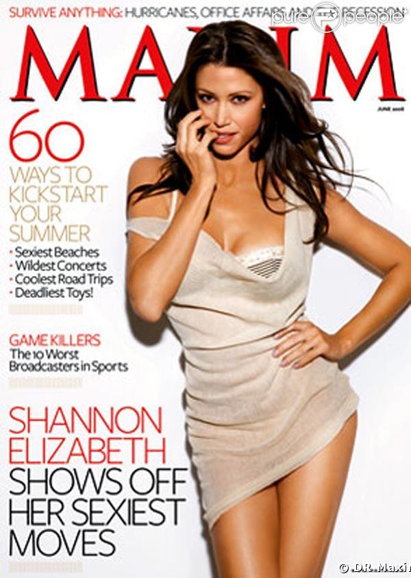 Shannon Elizabeth en couverture dans Maxim