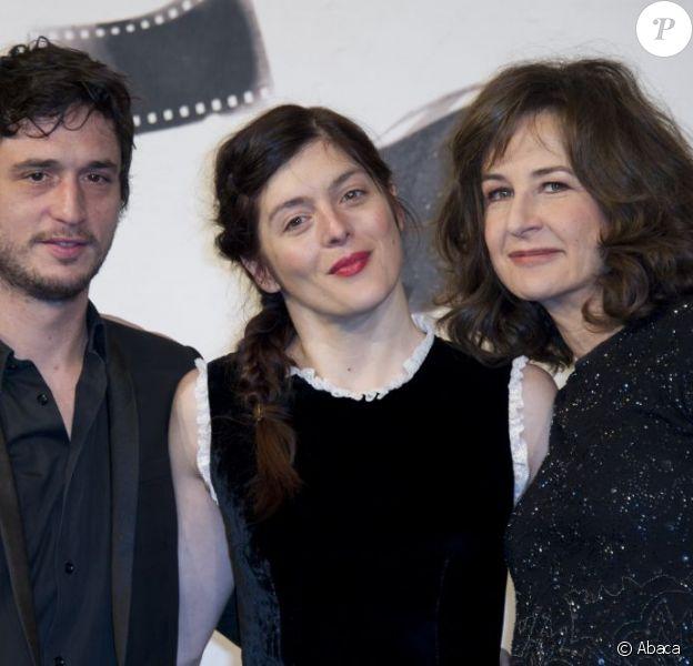 Jérémie Elkaïm, Valérie Donzelli et Valérie Lemercier lors du photocall du film Main dans la main au Festival du film de Rome le 10 novembre 2012