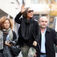 Alicia Keys en promotion chez NRJ, à Paris, le 13 novembre 2012.