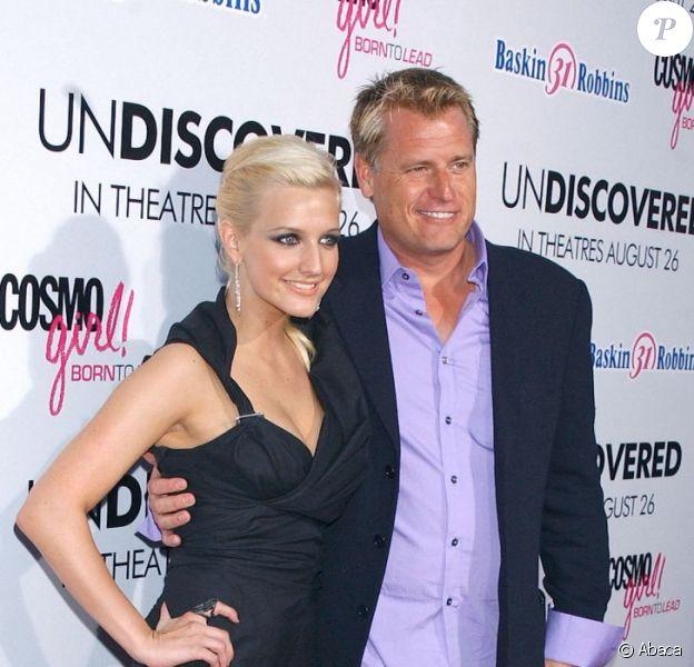 Joe Simpson et sa fille Ashlee à Los Angeles, le 23 août 2005.
