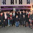 EXCLU - La soirée de l'Association des Journalistes Niçois dans le restaurant bar lounge O Cinq à Paris le 19 novembre 2012.