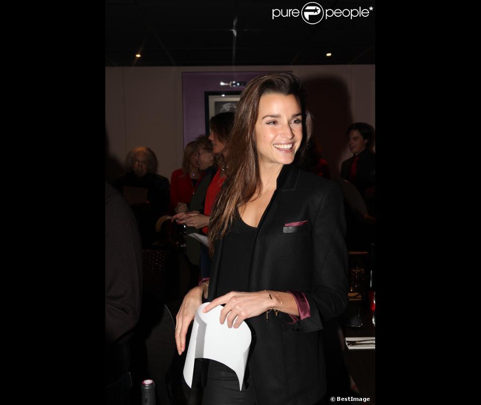 EXCLU - Céline Bosquet lors de la soirée de l'Association des Journalistes Niçois dans le restaurant bar lounge O Cinq à Paris le 19 novembre 2012.