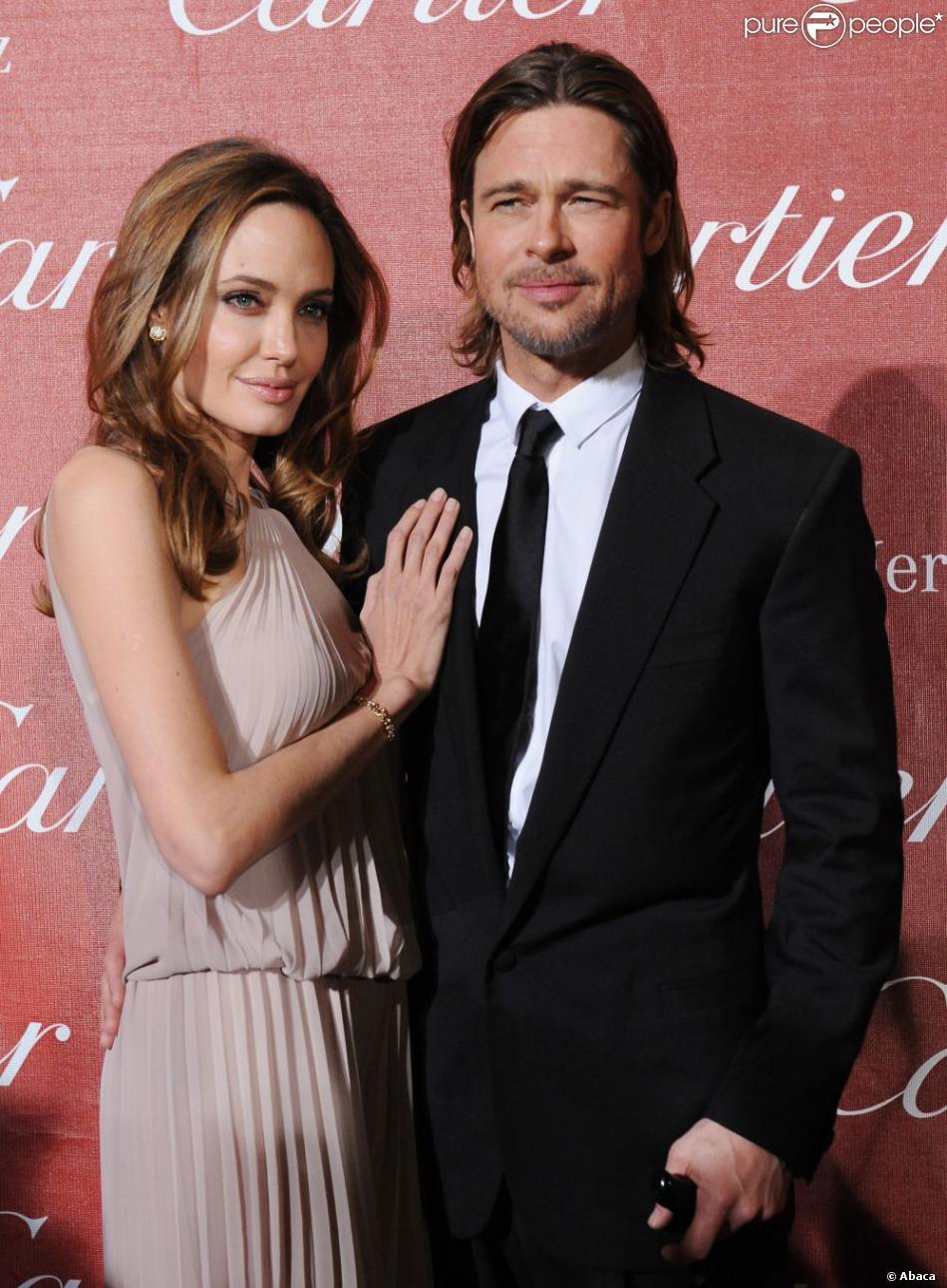 Angelina Jolie et Brad Pitt le 7 janvier 2012