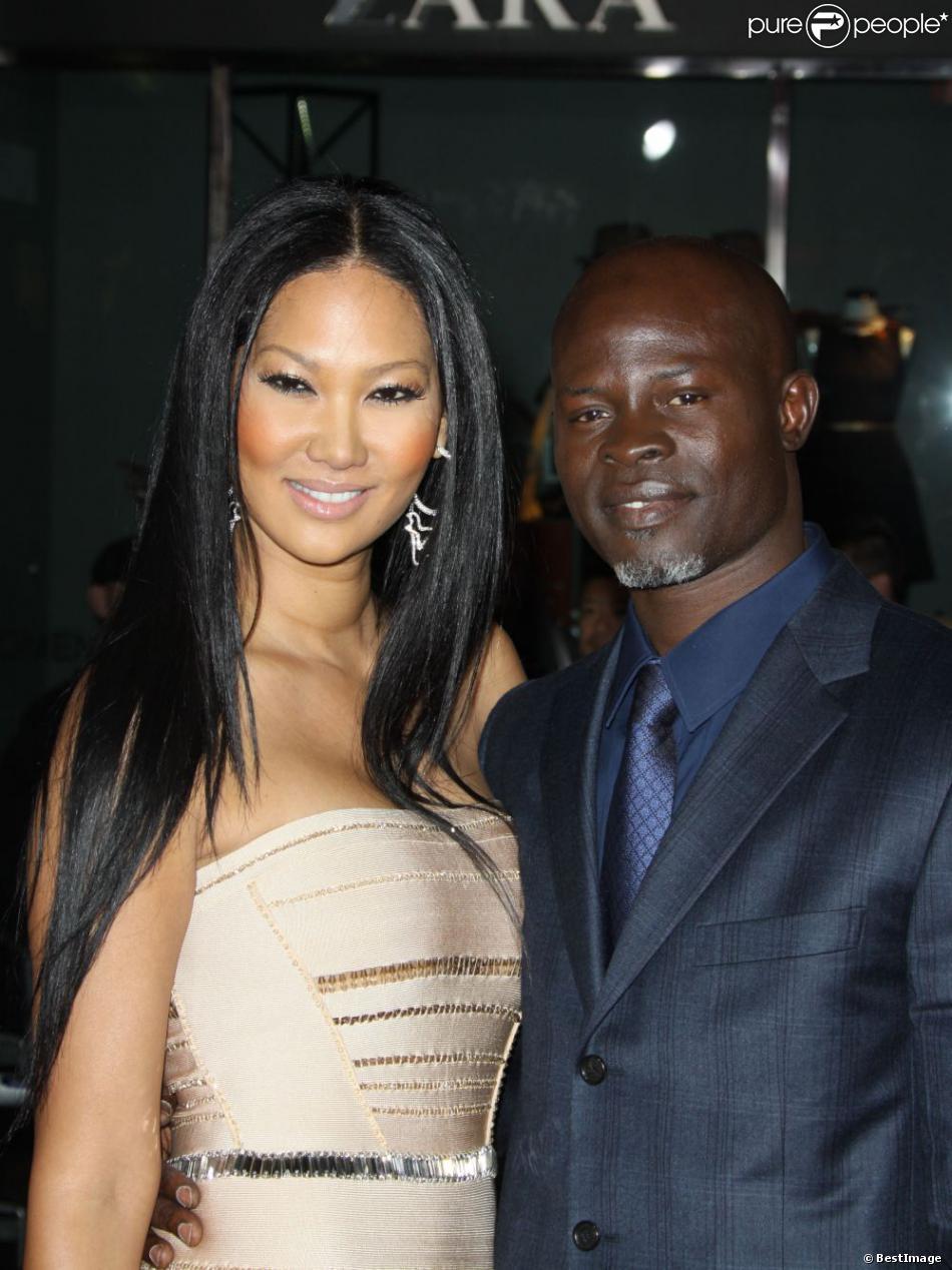 Kimora Lee Simmons et Djimon Hounsou à Los Angeles, le 6 décembre 2010.