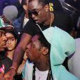 Exclusif - Mack Maine, Lil Wayne, Diddy et French Montana assistent à la soirée d'anniversaire de DJ Khaled au LIV. Miami Beach, le 25 novembre 2012.