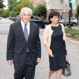 Dominique Strauss-Kahn et Anne Sinclair le 29 août 2011 à Washington