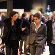 La princesse Caroline de Hanovre et Charlotte Casiraghi au Gucci Paris Masters le 2 décembre 2012 pour le Grand Prix, remporté par le Néerlandais Mark Houtzager avec Sterrehof's Tamino.