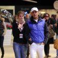 Athina Onassis et son mari Alvaro de Miranda Neto au Gucci Paris Masters le 2 décembre 2012 pour le Grand Prix, remporté par le Néerlandais Mark Houtzager avec Sterrehof's Tamino.