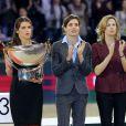 Fernanda Ameeuw, Charlotte Casiraghi et Virginie Couperie-Eiffel à la remise des prix du Gucci Paris Masters le 2 décembre 2012 pour le Grand Prix, remporté par le Néerlandais Mark Houtzager avec Sterrehof's Tamino.