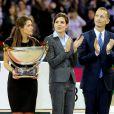 Fernanda Ameeuw, Charlotte Casiraghi et Robert Triefus au Gucci Paris Masters le 2 décembre 2012 pour le Grand Prix, remporté par le Néerlandais Mark Houtzager avec Sterrehof's Tamino.