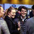 Sergio Alvarez Moya et Marta Ortega, enceinte de six mois, au Gucci Paris Masters à Villepinte, le 1er décembre 2012.