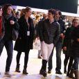 Sergio Moya et Marta Ortega, enceinte de six mois, au Gucci Paris Masters à Villepinte, le 1er décembre 2012.