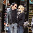 Jennifer Aniston et son amoureux Justin Theroux à New York le 16 septembre 2011