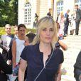 Emmanuelle Seigner au défilé Dior