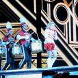 Madonna en pom-pomp girl en concert à Buenos Aires, le 13 décembre 2012.