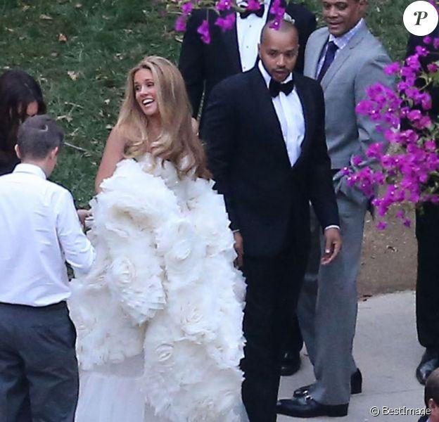 Donald Faison et CaCee Cobb lors de leur mariage, le 15 décembre 2012 à Los Angeles.