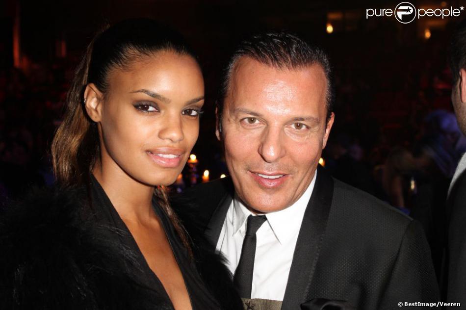 Jean-Roch et sa compagne Anaïs à Charleroi le 15 décembre 2012 lors de l'élection Top Model Belgium 2012 au Spiroudome