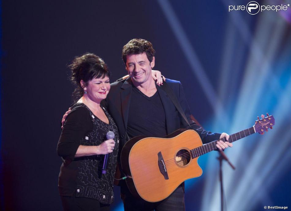 EXCLU - Patrick Bruel et Maurane lors du concert des rêves et des étoiles organisé par Make a Wish, à Bruxelles, au Palais du Heysel, 14 decembre 2012.