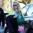 Busy Philipps sur le tournage du film  Cougar Town  à West Hollywood, le 19 décembre 2012. L'actrice a annoncé il y a quelques jours qu'elle était enceinte.