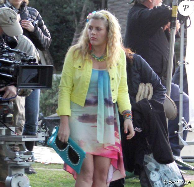 Busy Philipps sur le tournage du film Cougar Town à West Hollywood, le 19 décembre 2012.