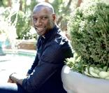 Omar Sy durant un shooting photo à Los Angeles, le 2 octobre 2012.