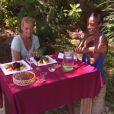 Épreuve de confort - dégustation de vers remportée par Vanessa et Marylou qui dégustent un délicieux repas dans Koh Lanta Malaisie, vendredi 21 décembre 2012 sur TF1